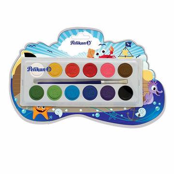 Acuarela Pelikan escolar con 12 colores