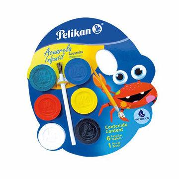 Acuarela Pelikan infantil con 6 colores