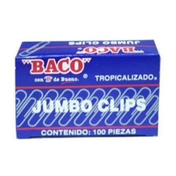 Imagen de CLIP JUMBO ZINCADO BACO CON 100 PIEZAS