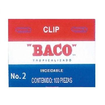 Imagen de CLIP TROPICALIZADO BACO NO.2  CON 100 PIEZAS