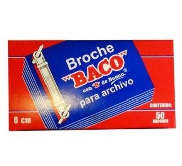 Imagen de BROCHE PARA ARCHIVO BACO ROJO DE 8CM CON 50 PIEZAS