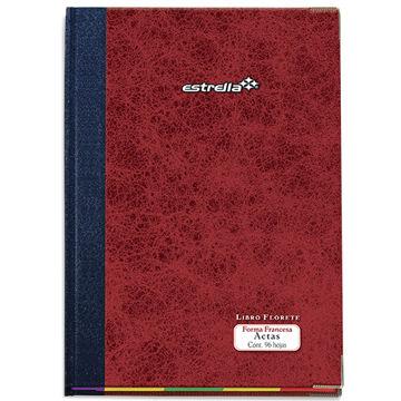 Imagen de Libro Florete Estrella Forma Francesa  actas con 96 hojas
