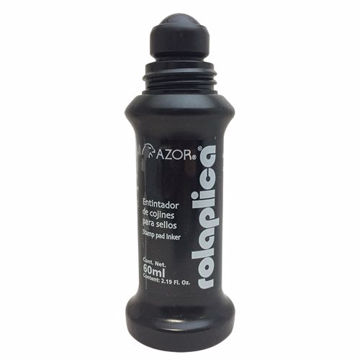 Tinta para sello Rolaplica Azor color negro