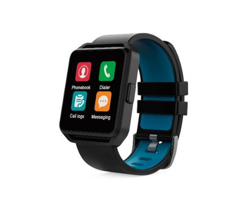 Imagen de SMART WATCH GHIA CON  PANTALLA  DE 1.54 TOUCH GAC-109 COLOR NEGRO CON  AZUL
