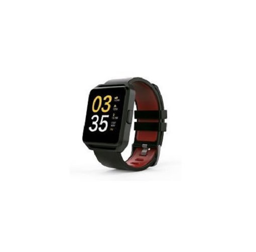 Imagen de SMART WATCH GHIA CON PANTALLA DE 1.54 TOUCH GAC-137 COLOR NEGRO CON  ROJO