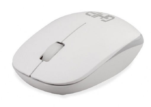 Imagen de MOUSE INALAMBRICO GHIA GM300BG COLOR BLANCO CON GRIS