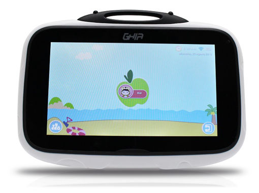 Imagen de TABLET GHIA KIDS 1GB / 8GB GTABKIDSB CATARINA COLOR BLANCA CON NEGRO